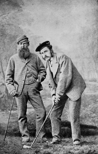 Old and Young Tom Morris around 1870-1875, Thomas Rodger, USGA Bulletin 1902, Wikipedia