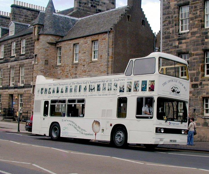Scotland Fife Coast St Andrews The Official Tour Bus   © 2003 Scotiana