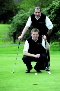 Alan and Nigel - Optical Express Pro Golf Tour 2011