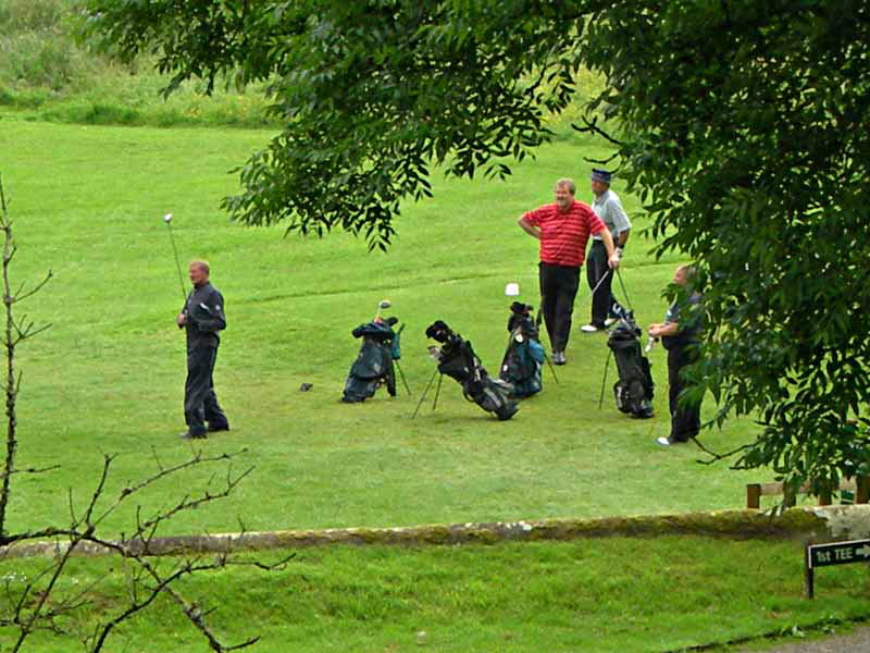 Playing golf at Hoddam Castle Dumfries and Galloway Scotland © 2006 Scotiana