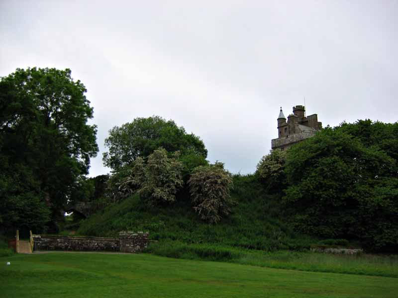 Hoddam Castle view from the golf course Dumfries and Galloway Scotland  © 2004 Scotiana