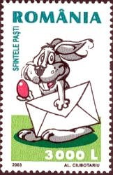 Romania 2003 Easter Rabbit Stamp