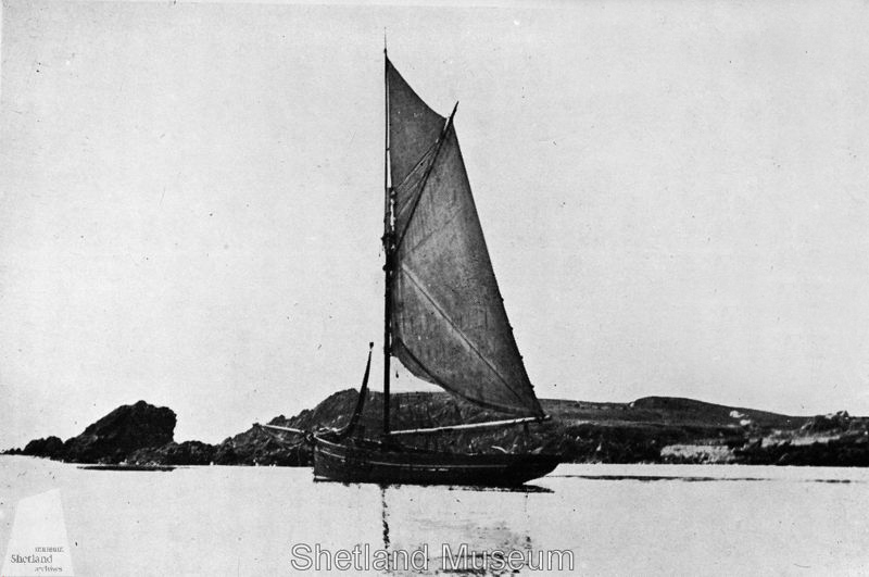 The sailing boat Columbine | Source Shetlopedia ©Shetland Museum