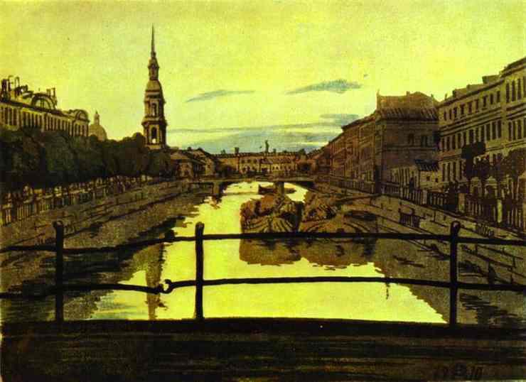 Anna Ostroumova-Lebedeva View of Canal Olga's Gallery