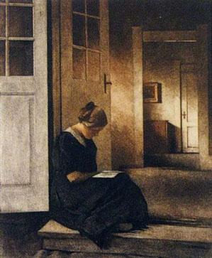 'In the Garden Doorway' Peter Ilsted 1913