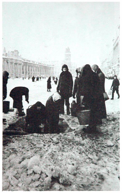 Women in Leningrad obtaining water in the street - Dear Allies Margaret Henderson - Monklands District Libraries 1988