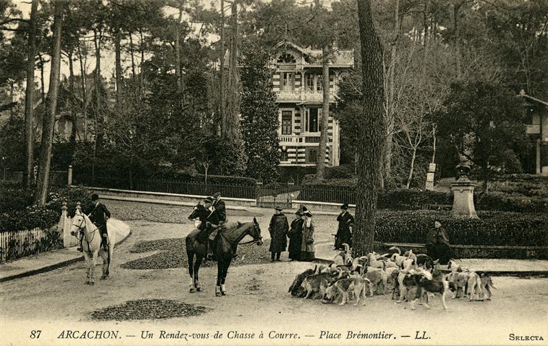 Arcachon Place Brémontier hunting rendez-vous c.1900 Scotiana library
