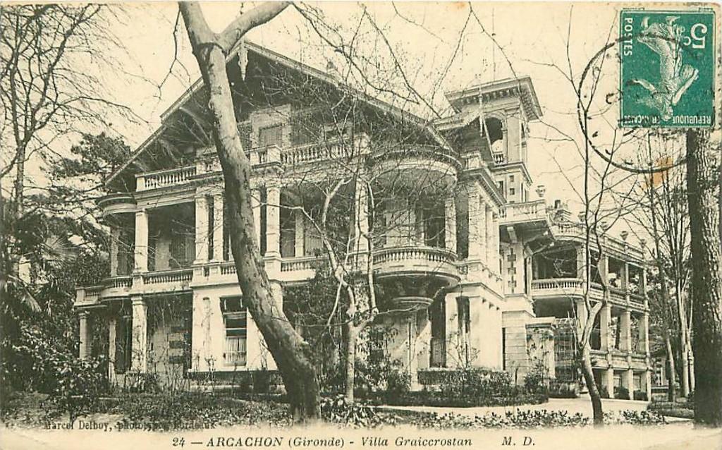 Arcachon villa Craigcrostan old postcard c.1900