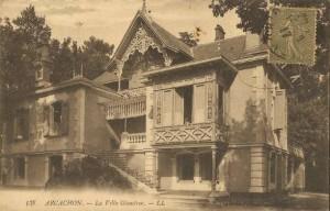 Arcachon villa Glenstrae old postcard Scotiana library