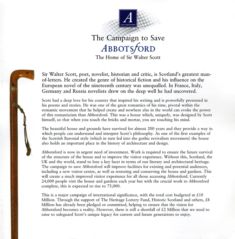 The Campaign to Save Abbotsford The Abbotsford Trust page 1