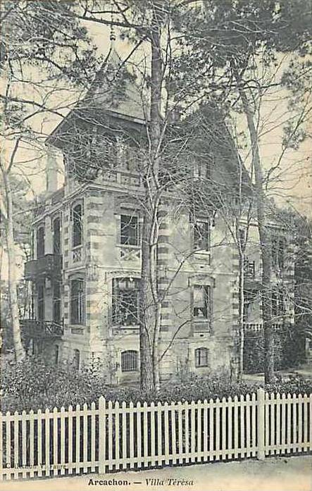 Arcachon Ville d'Hiver villa Térésa old postcard