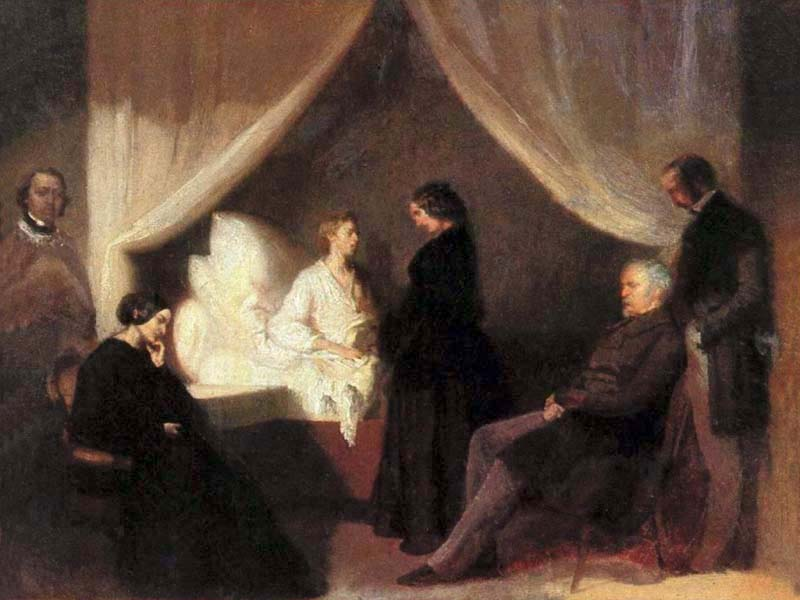 Last moments of Frédéric Chopin by Teofil Kwiatkowski, 1849-1850 - Frederic Chopin museum, Warsaw, Poland - Wikipedia