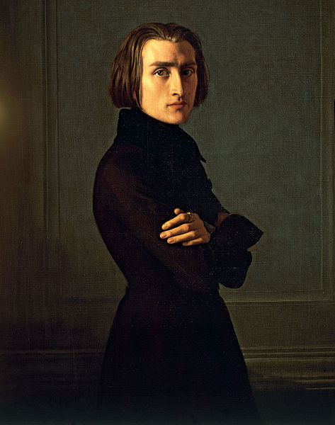 Portrait of Franz Liszt by Henri Lehmann  1839 - Source Wikipedia