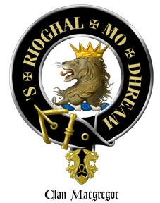 MacGregor Scottish Clan Crest with Motto