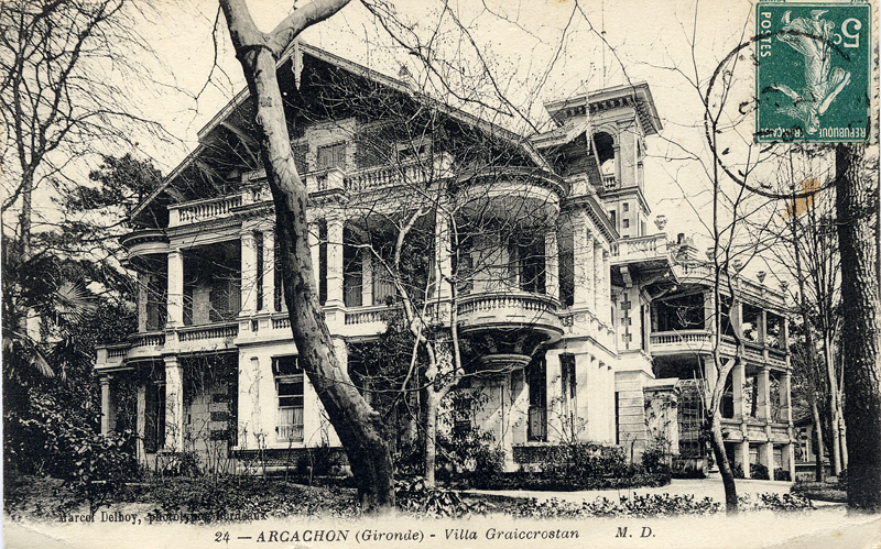 Arcachon Villa Craigcrostan old postcard c.1900 Scotiana Library