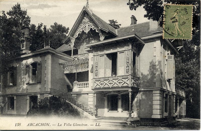 Arcachon Villa Glenstrae old postcard c.1900 Scotiana Library