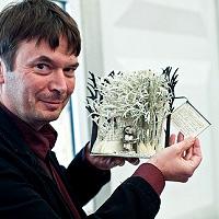 Ian Rankin and Edinburgh mystery sculpture Source Edinburgh City of Literature website