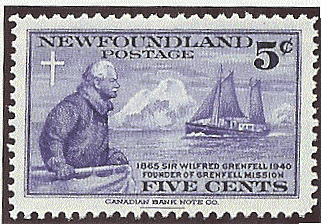 Newfoundland 1941 Sir Wilfred Grenfell 5c stamp