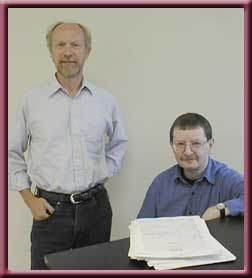John Steffler (L) and Dr. Michael Parker