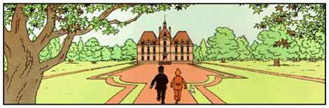 "Hergé's ""Château de Moulinsart"" in The Adventures of Tintin - Source : Wikipedia"