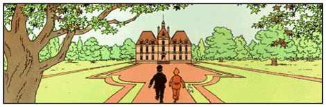 "Hergé's ""Château de Moulinsart"" in The Adventures of Tintin - Source : Wikipedia"