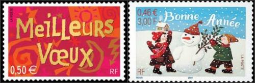 Meilleurs-Voeux-Bonne-Année-France Postage Stamps