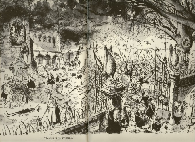 Ronald Searle's illustration The Fall of St. Trinian's