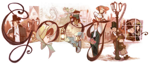 Charles Dickens Google image 7 february 2012