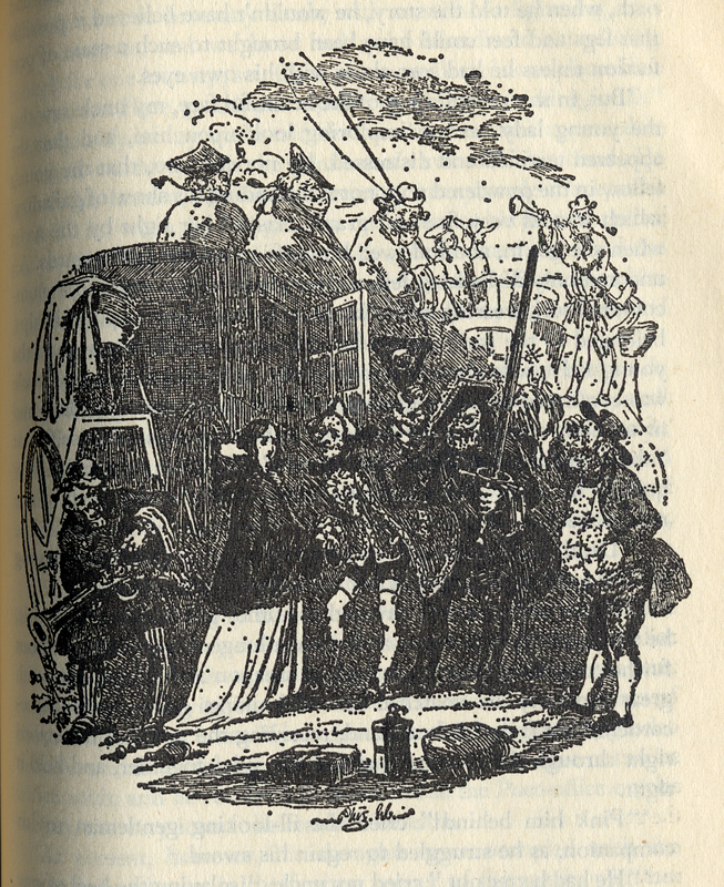 Charles DickensThe Pickwick Papers Illustration of 'Tale of the Bagman's Uncle Penguin Classics 1988