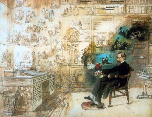Dickens's Dream. Painted 1875. Donated by the artist's grandson - 1931Source Wikipedia