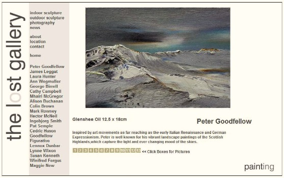 Peter Goodfellow - Paintings - Scottish Highlands