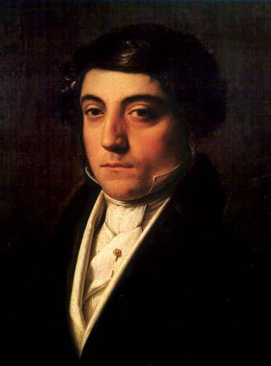 Gioachino Rossini, painted c. 1815 by Vincenzo Camuccini Museo del Teatro alla Scala in Milan