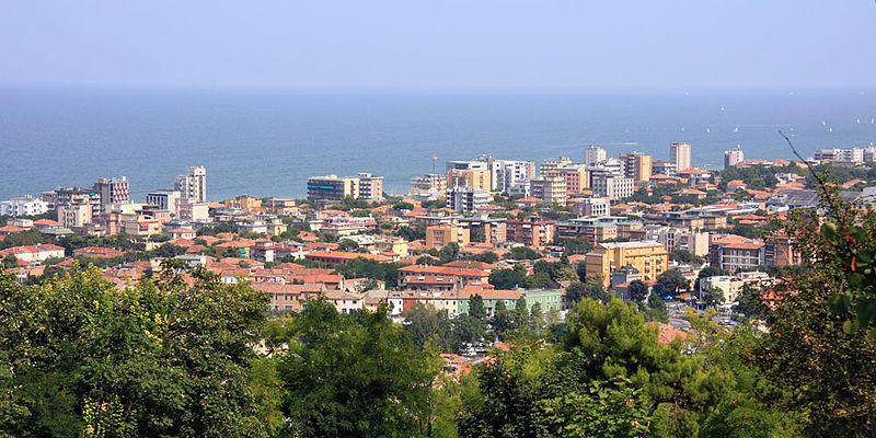 Pesaro on the Adriatic Sea Italy panoramic view source Wikipedia