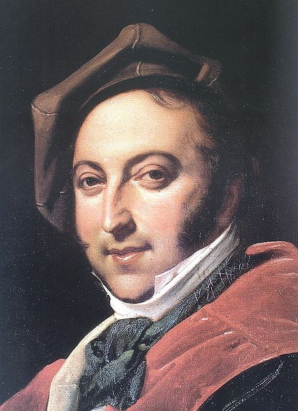 Portrait of Gioachino Rossini in 1820, International Museum and Library of Music, Bologna