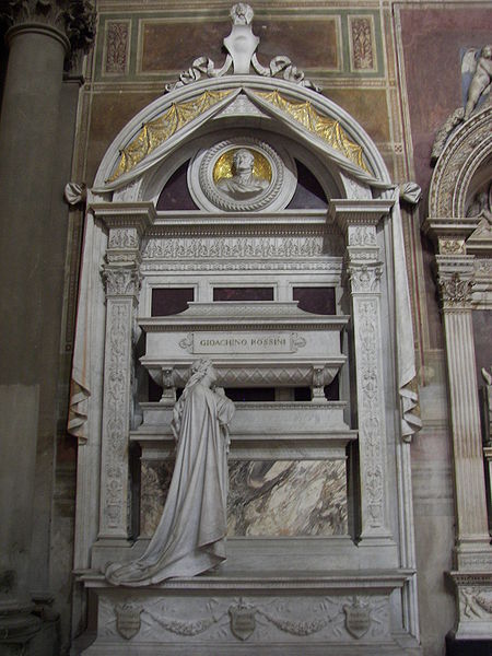 Rossini's final resting place, in the Basilica of Santa Croce, Florence Source Wikipedia