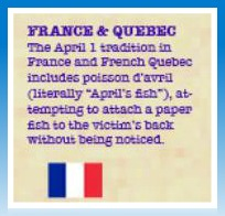 France Quebec April Fool's Tradition