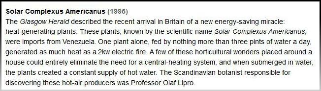 scottish prank heat plant 1995 solar complexus americanus