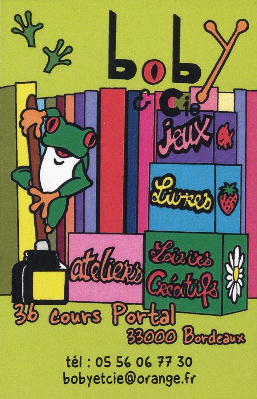 Boby & Ciechildren's literature bookshop  business card