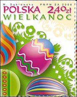 Easter Eggs Poland Postage Stamp