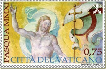 Vatican-Easter-Resurrection-Postage-Stamps