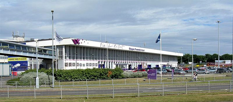 Prestwick International Airport, near to Glasgow ,South Ayrshire, Great Britain Source Wikipedia