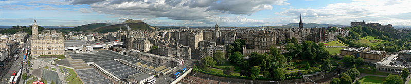 Edinburgh panoramic view from Scott Monument Wikipedia