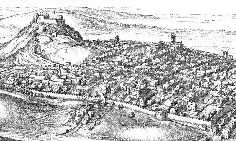 Edinburgh in the 17thC (detail) by Wenceslas Hollar (1670) - Wikipedia
