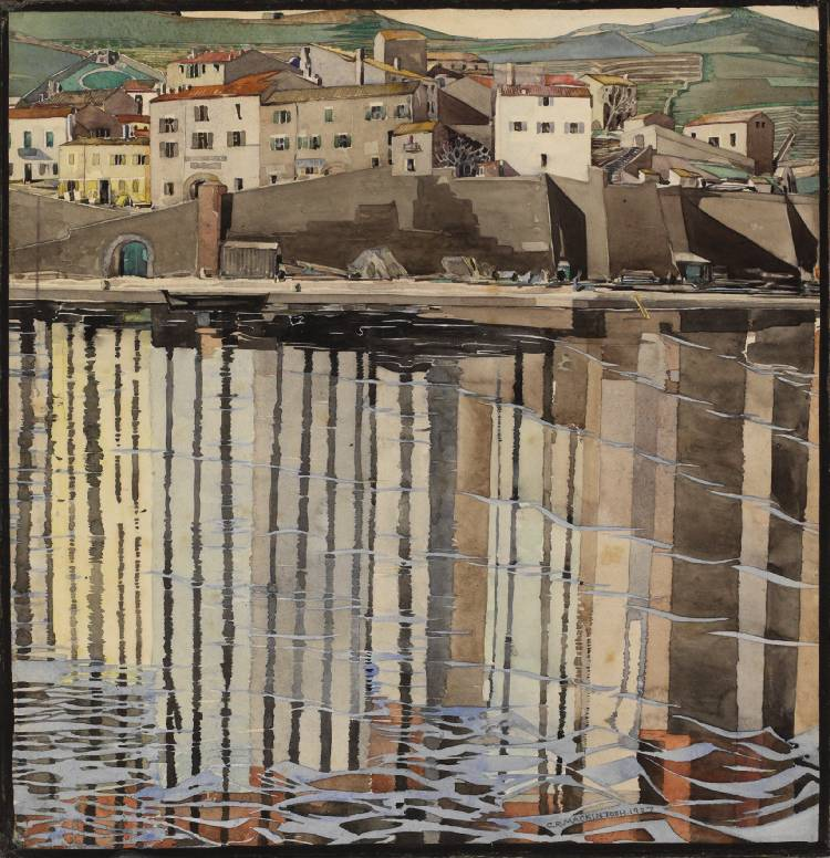 La Rue du Soleil, Port Vendres 1926 Source The Hunterian Museum & Art Gallery University of Glasgow