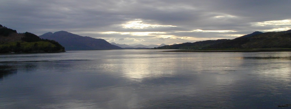 View to the Isle of Skye at dusk  JC   © 2001 Scotiana