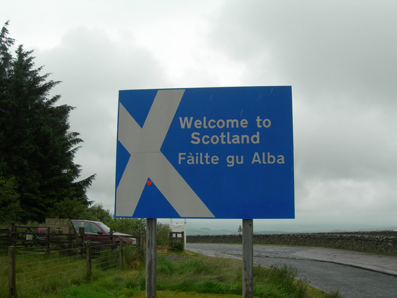 Welcome to Scotland road sign  © 2007 Scotiana