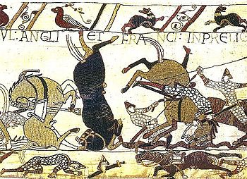 Bayeux Tapestry Horses in Battle of Hastings Wikipedia