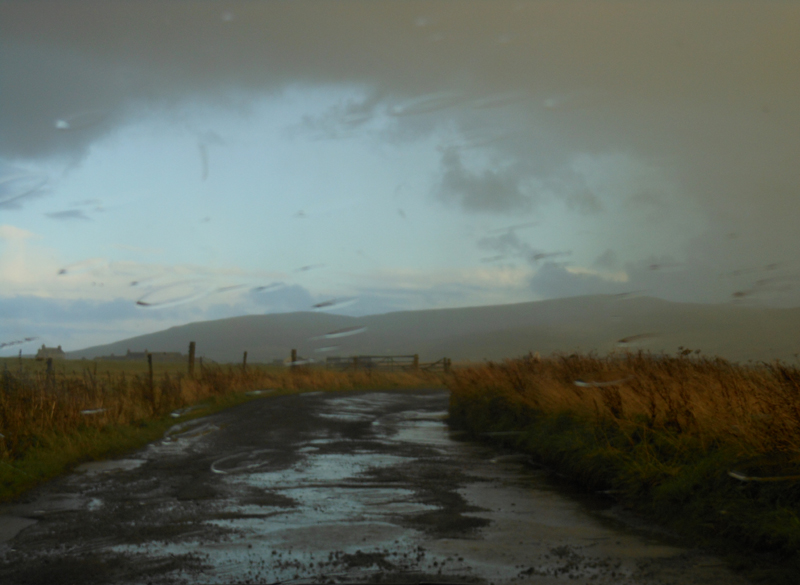 Orkney road on a rainy autumn day © 2012 Scotiana