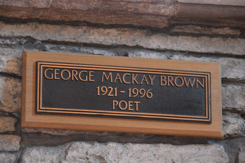 St Magnus Cathedral George Mackay Brown memorial plaque © 2012 Scotiana