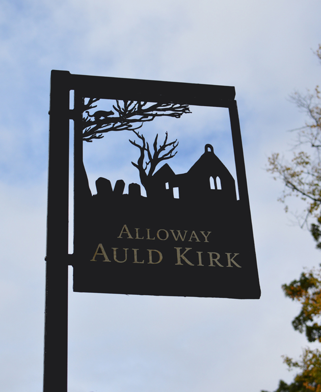 Alloway Auld Kirk signpost © 2012 Scotiana